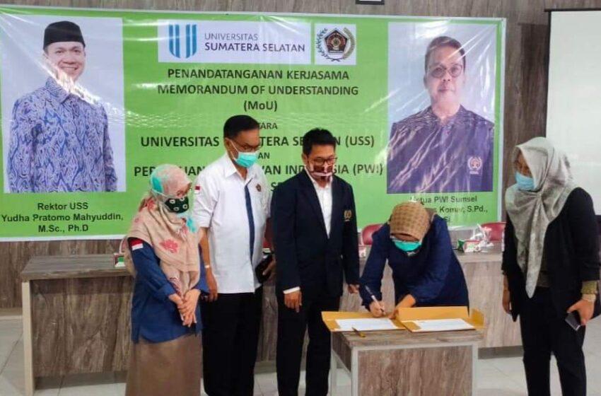 PWI Sumsel dan Universitas Sumatera Selatan Jalin Kerjasama