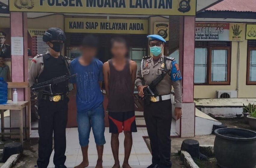 Bobol Warung, Dua Pemuda di Musi Rawas Dicokok Polisi
