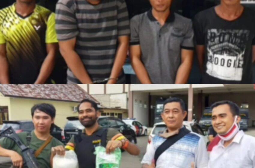 Sat Narkoba Polres Lubuklinggau Amankan 1,04 Kg Sabu