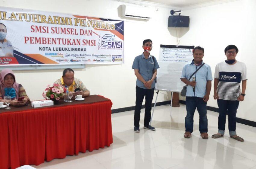Agus Hubya Handoyo, Sri Frades dan Sudirman Pengurus SMSI Silampari Terpilih