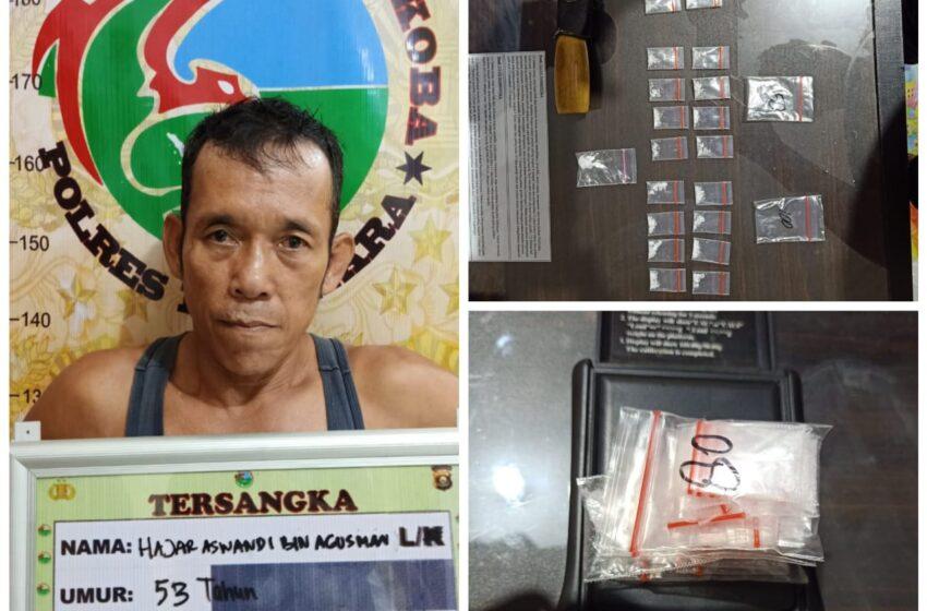 Warga Muratara Simpan 29 Paket Sabu di Rumahnya