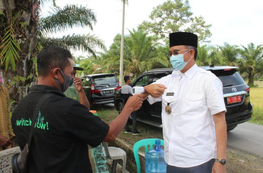 Akrab Desa di Kecamatan Sumberharta, Bupati Puji Penerapan Protokol Kesehatan