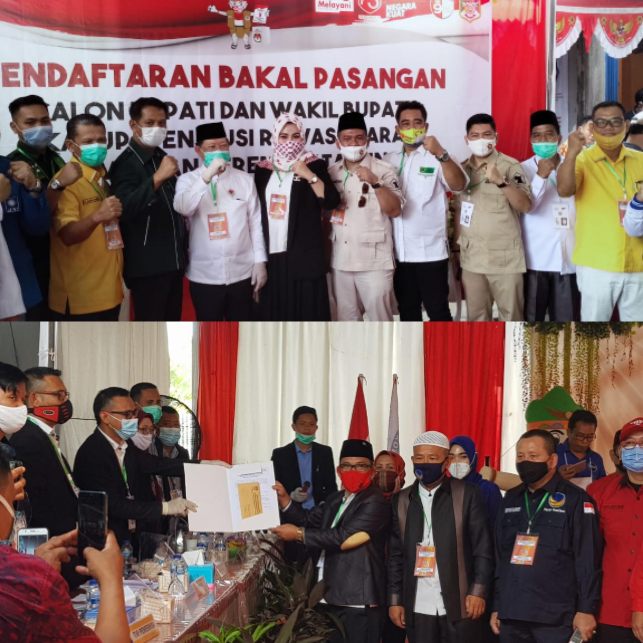 Dua Paslon di Muratara Daftar ke KPU, Diisolasi Surian Tidak Bisa Hadir