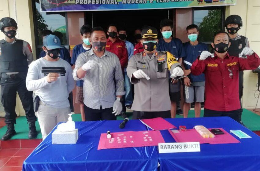 Polres Musi Rawas Tangkap Bandar Narkoba Tugumulyo dan Megang Sakti