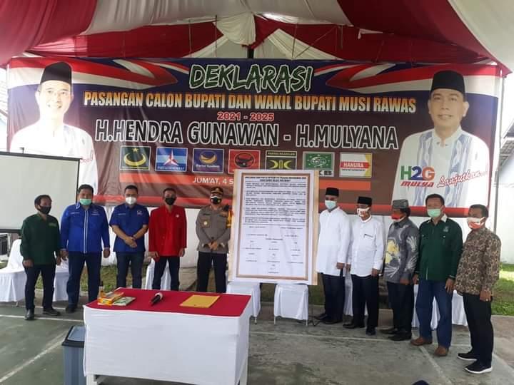 H2G – Mulya dan Parpol Pengusung Deklarasi Pilkada Aman, Damai, Sejuk dan Sehat