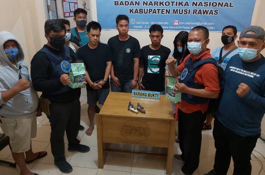 BNN Musi Rawas dan Lubuklinggau Amankan 2,19 Kg Sabu dan 9 Orang Warga Muratara