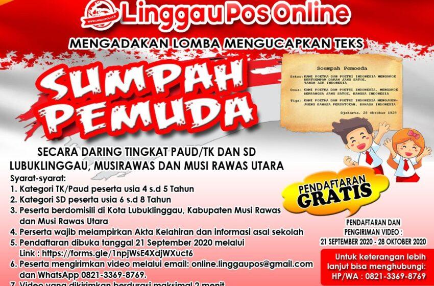 Ikuti Lomba Membaca Teks Sumpah Pemuda Tingkat TK/PAUD, SD Secara Daring