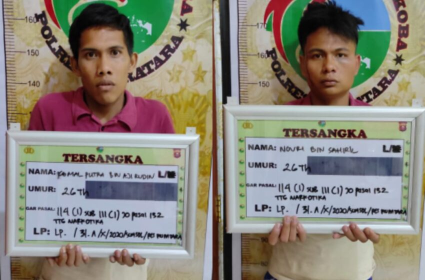 Janjian dengan Polisi, Penjual Ganja di Muratara Ditangkap