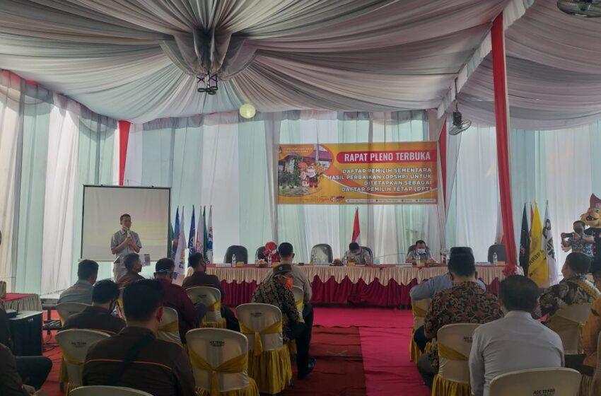 KPU Musi Rawas Tetapkan 283.783 Pemilih DPT Pilkada