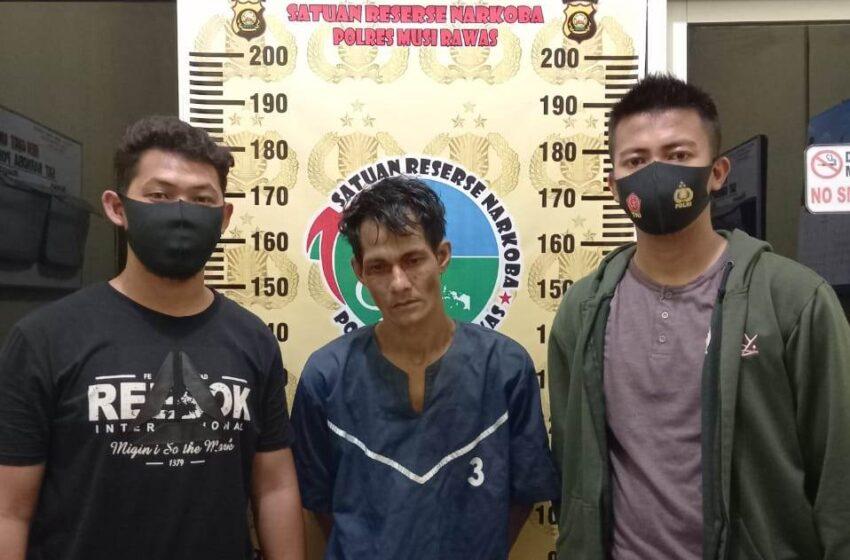Kantongi Sabu, Warga Musi Rawas Ditangkap Polisi