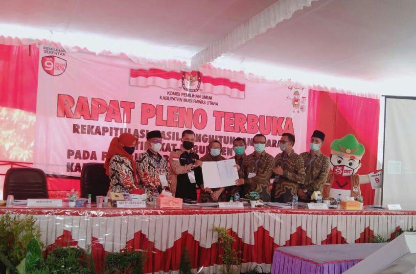 Sah, HDS Tullah Menang Pilkada Muratara