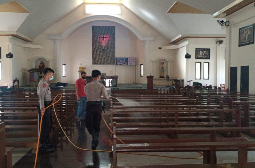 Tempat Wisata dan Rumah Ibadah di Musi Rawas Disemprot Disinfektan
