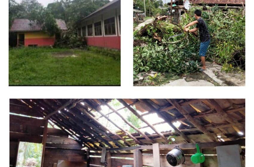 Dihantam Puting Beliung, Pondok Hancur Pasutri Patah Tulang