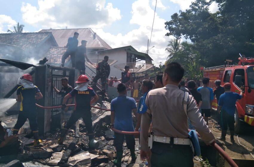 Warung Milik MC Kondang di Muara Lakitan Ludes Terbakar